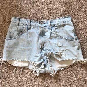 Hand-distressed Vintage Levi's Jean Shorts